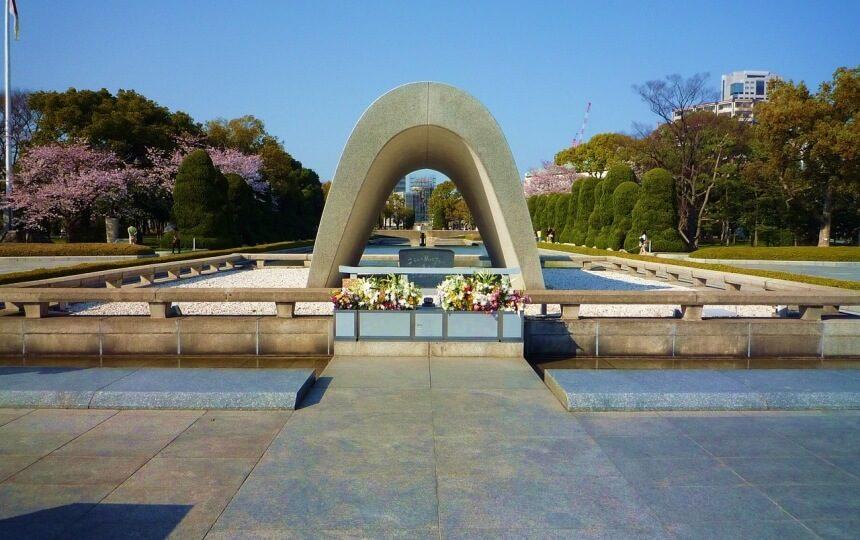 Hiroshima monument in Japan