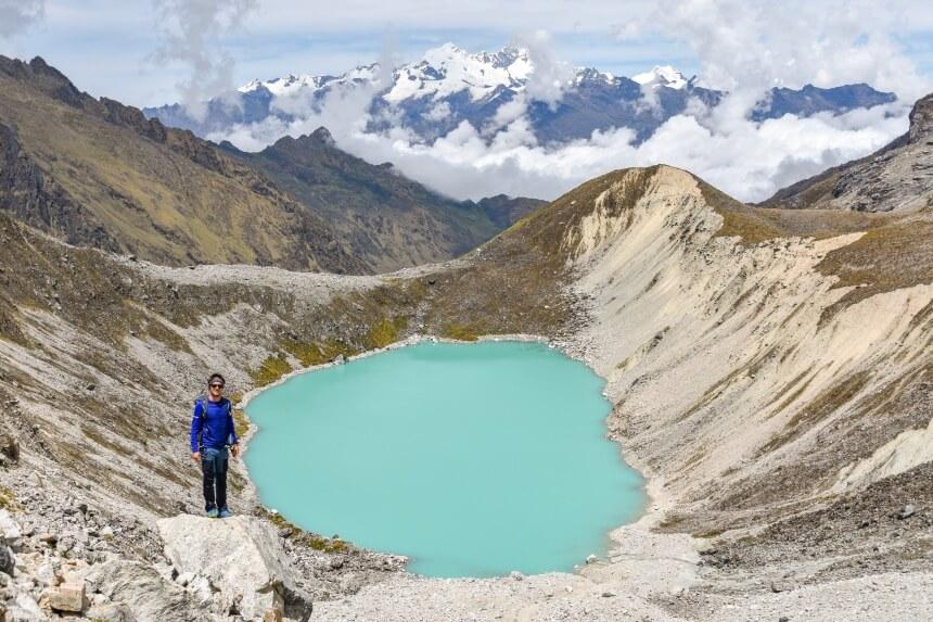 Humantay bergmeer tijdens de Salkantay Trail