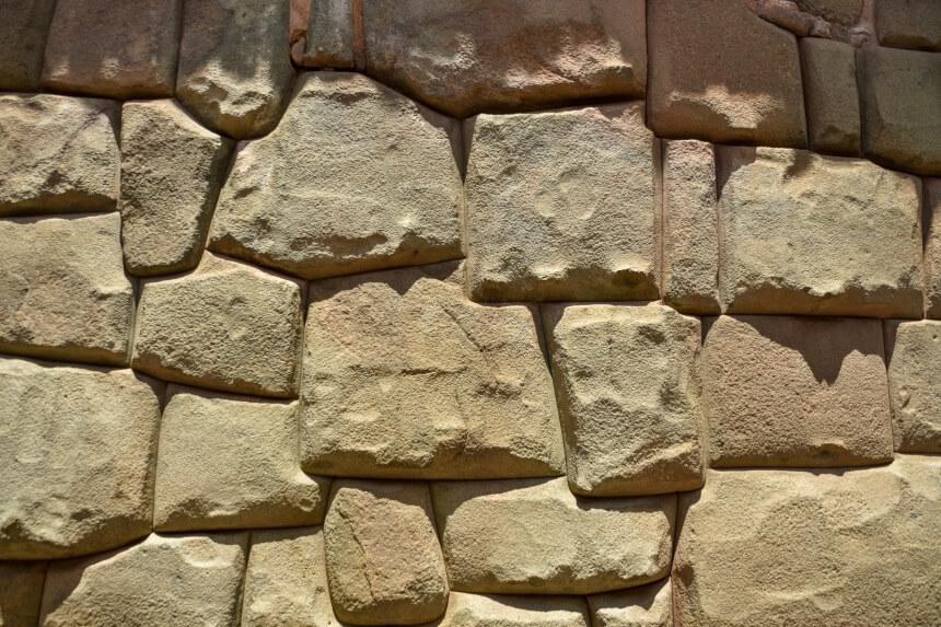 Inca bouwstijl: steen op steen zonder cement