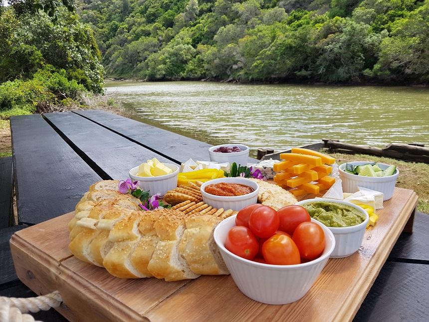 Lunch bij de privéboerderij Vleermuis en de Boerboon in Zuid-Afrika