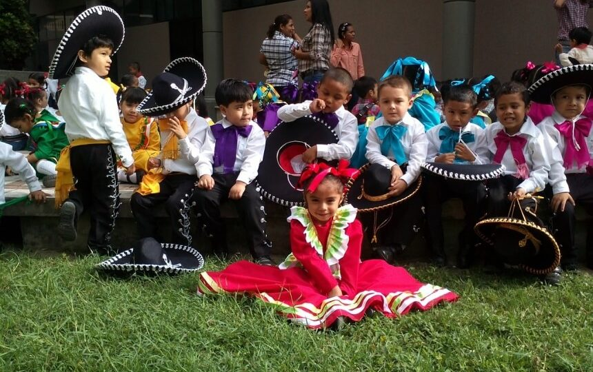 Mariachi kinderen in Mexico