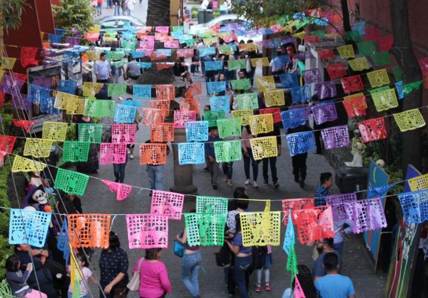 De wijk Coyoacán in Mexico-Stad
