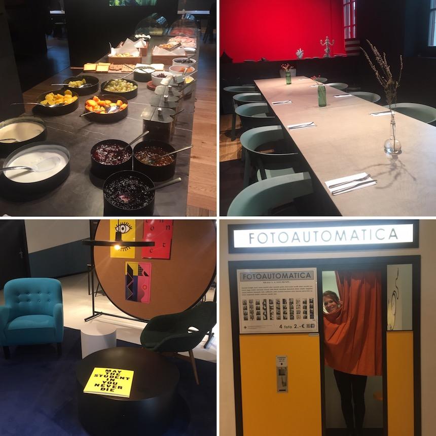 Ontbijt en vergaderzaal in Thee Student Hotel in Florence