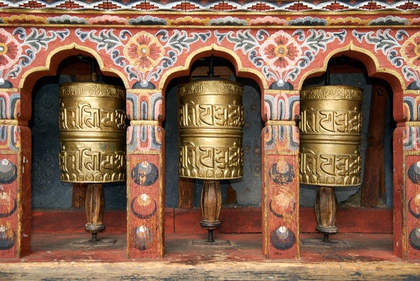 Gebedsmolens in de Tibetaanse wereld