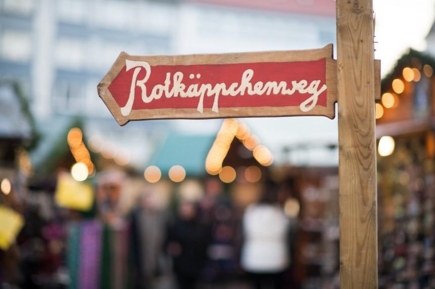 Roodkapjeweg sprookjes kerstmarkt in Kassel