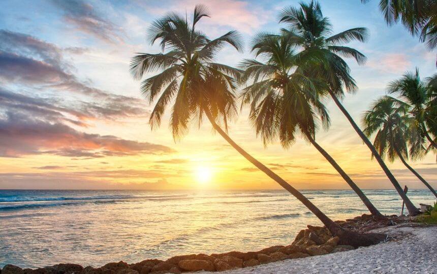 Het strand van Barbados