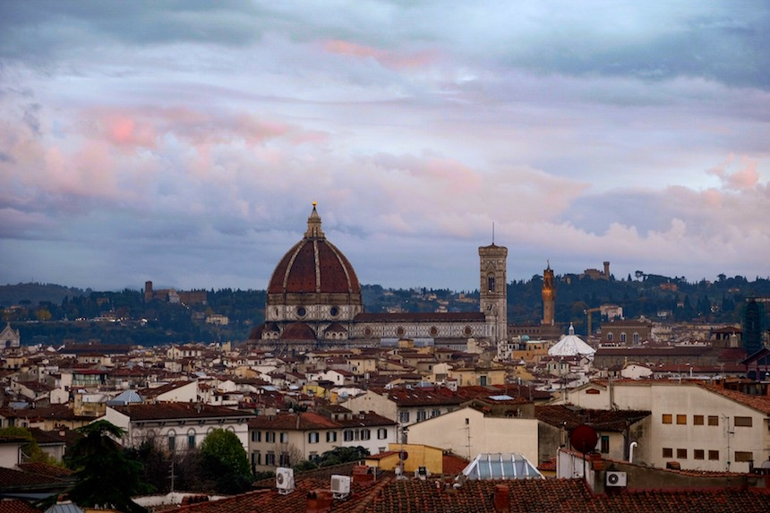 Uitzicht vanaf het dak van The Student Hotel in Florence