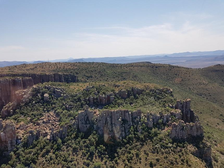 Valley of Desolation vanuit de helikopter