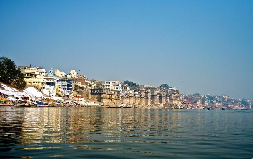 Varanasi rivier in India
