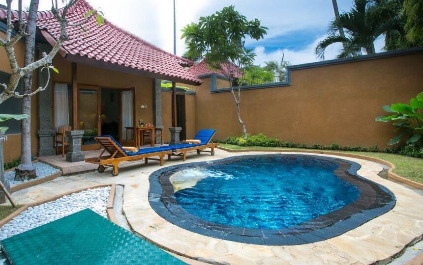 Villa met zwembad op Bali