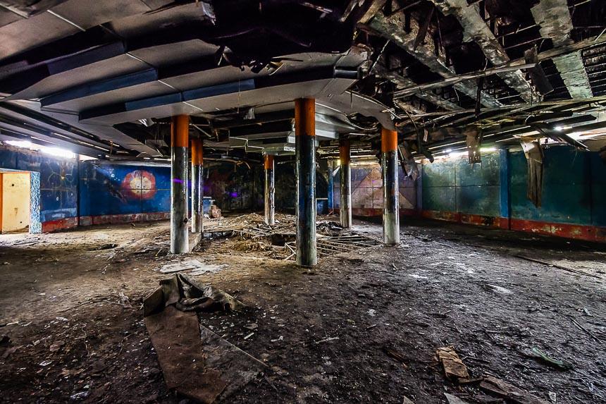 De dansvloer van de discotheek van Carlos Lehder