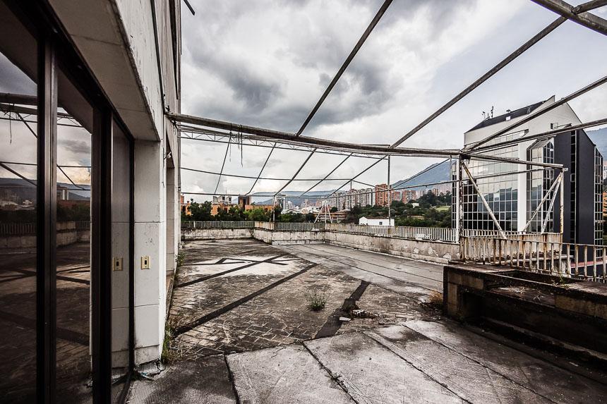 Gezicht vanaf het dakterras van het huis van Pablo Escobar