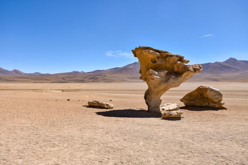 Rotsen in de woestijn van Bolivia