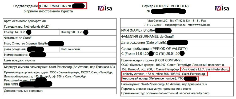 Uitnodiging Russisch visum