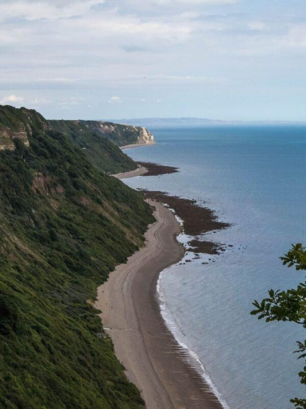 Uitzicht vanaf het South West Coast Path