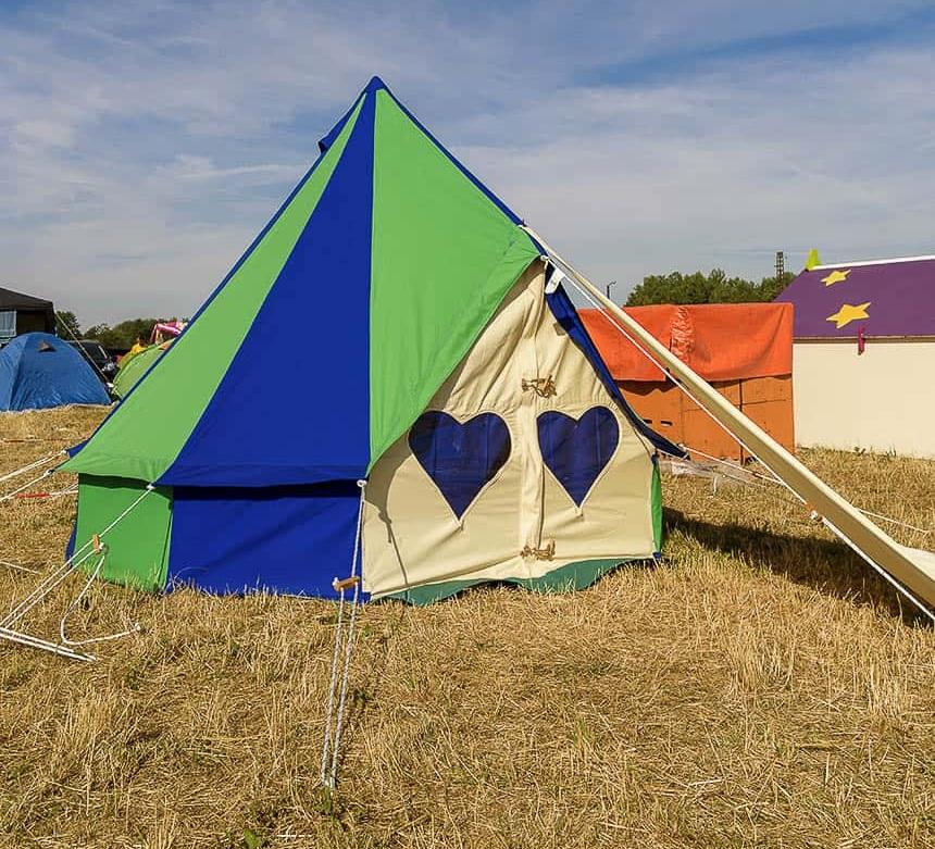 Podpads op Melt: de kleurige Bellapads fleuren de gezellige camping lekker op
