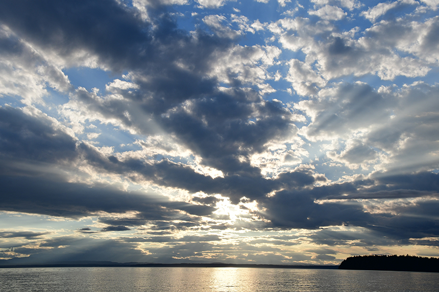 Zonsondergang bij Lund in Canada