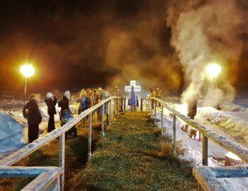 Крещение: ijszwemmen in Rusland