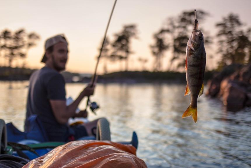 Vissen kanotocht Zweden
