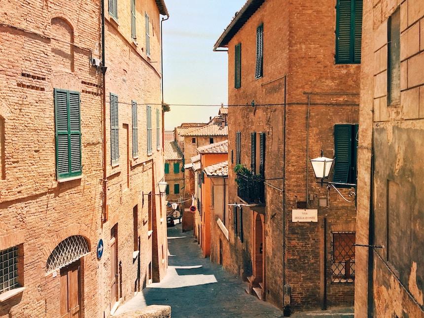 De historische stad Siena in Italie
