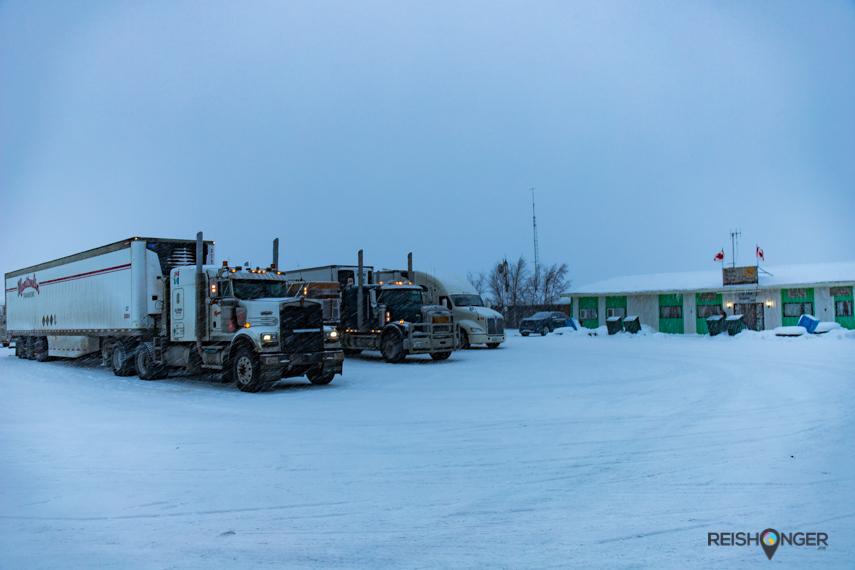 Eagle Plains is het domein van de iceroad truckers