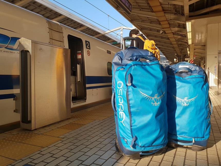 Osprey Rolling Transporter bullettrain Japan