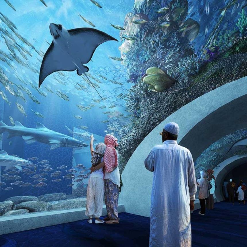 nieuwste aquarium van Oman