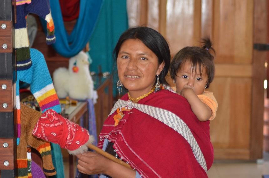 Ecuadoriaanse vrouw met kind