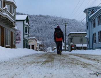 Dawson City in hartje winter