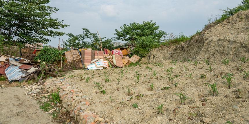 Bebouwd lapje grond in Weijianian