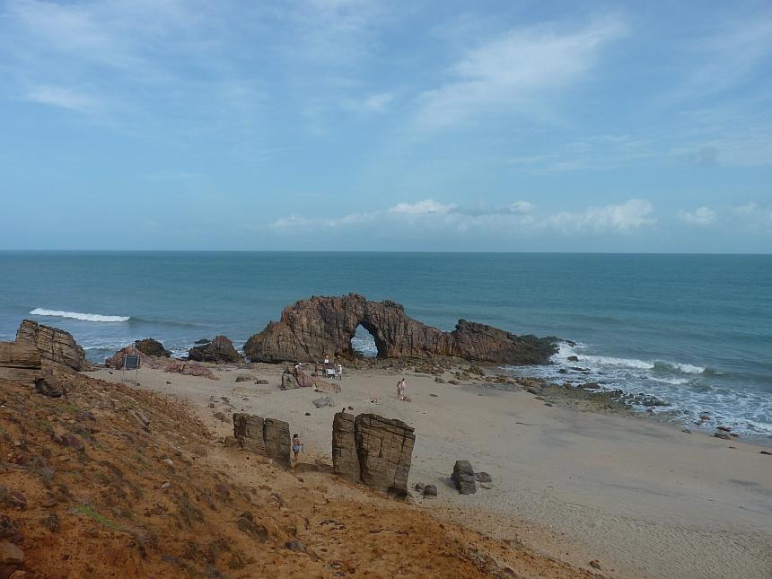 Pedra Furada bij Jericoacoara