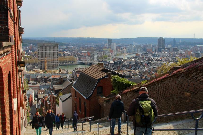 De Montagne de Bueren biedt het mooiste uitzicht van Luik