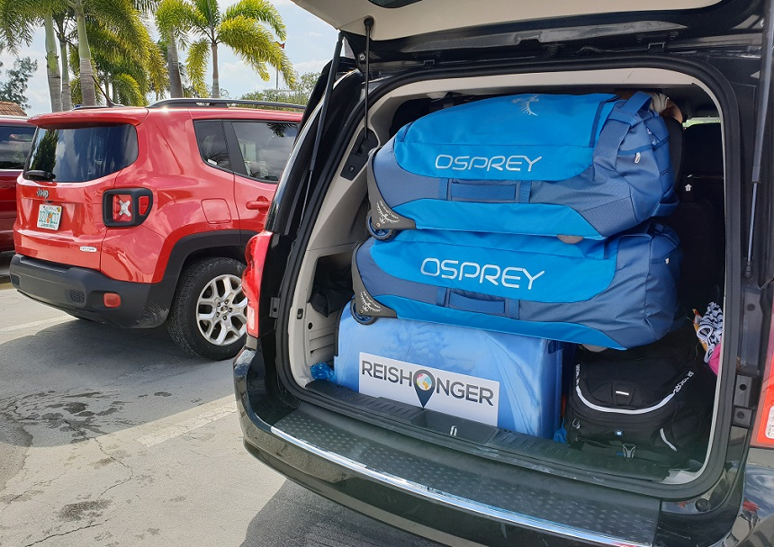 osprey rolling transporter huurauto
