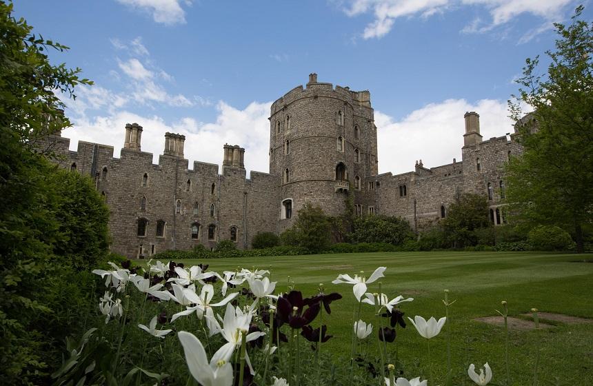 Perfect aangelegde tuinen binnen de muren van Windsor Castle