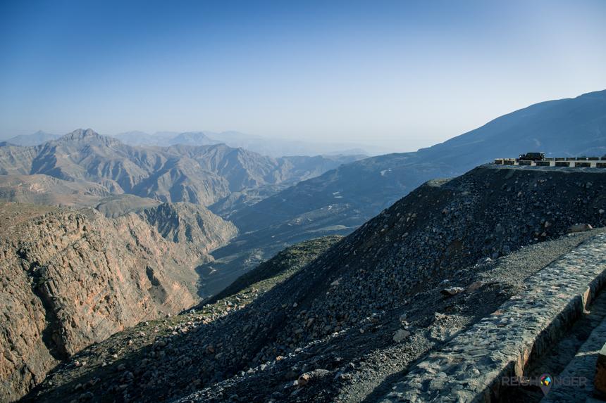 Het Al Hajar gebergte met uitlopers op het grondgebied van Ras Al Khaimah