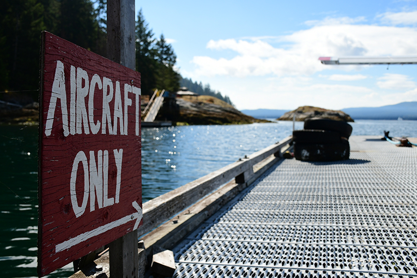 Landingsplaats voor het postwatervliegtuig op Refuge Cove