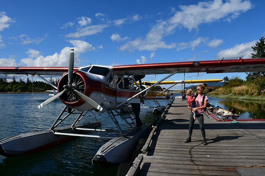 Postwatervliegtuig van Corilair op Vancouver Island