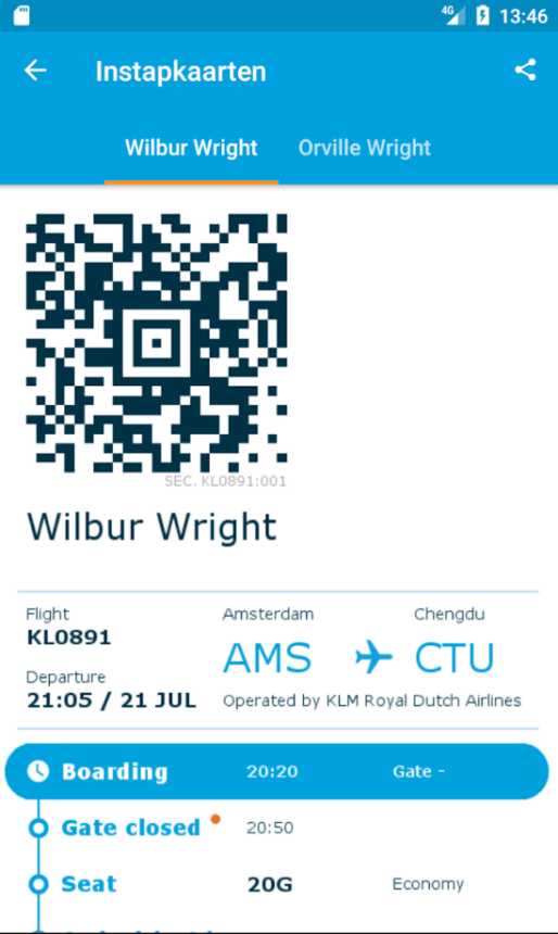 KLM Android app
