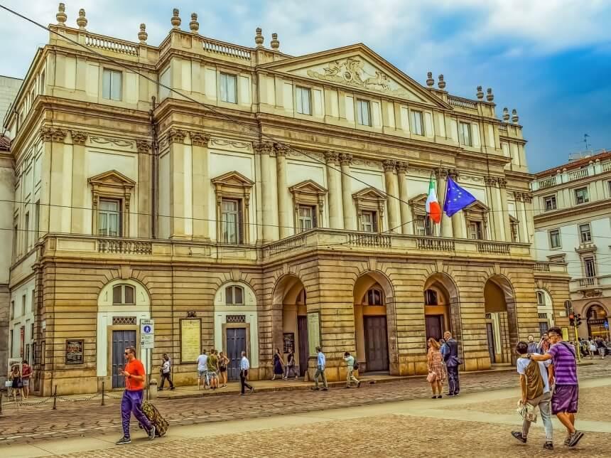 Italië Teatro alla Scala in Milaan
