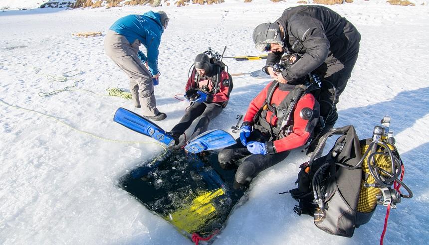 Winteractiviteiten in Val Thorens IJsduiken