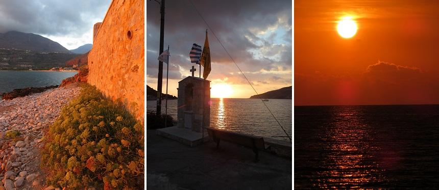 Zonsondergang Mani Peloponnesos Griekenland