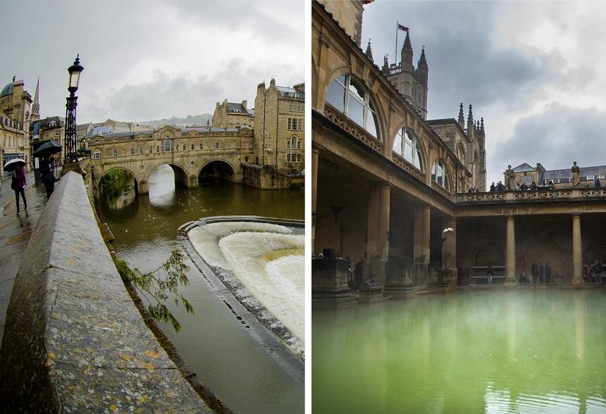 Overal in de stad Bath zijn er Romeinse invloeden terug te vinden