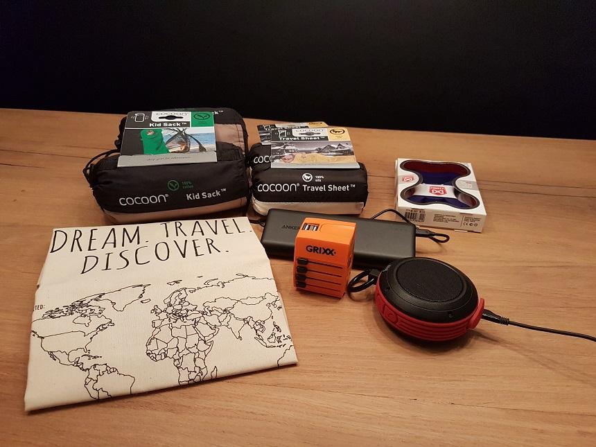 katoenen tas met wereldkaart