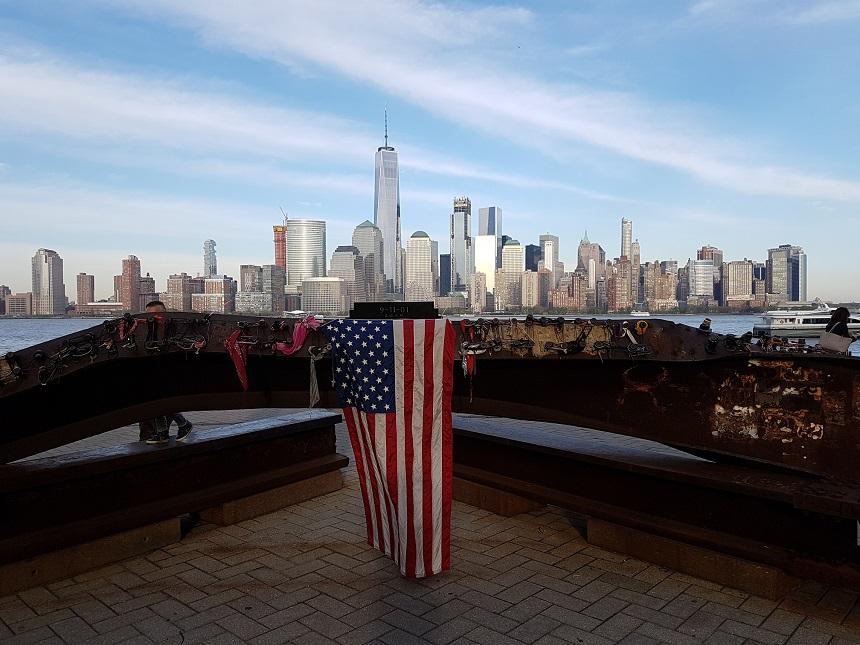 Uitzicht vanaf New Jersey richting de Manhattan skyline
