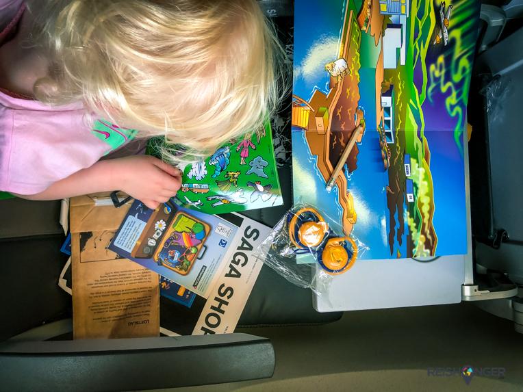 Kids goodiebag bij Icelandair