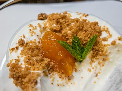 Dessert met crumble