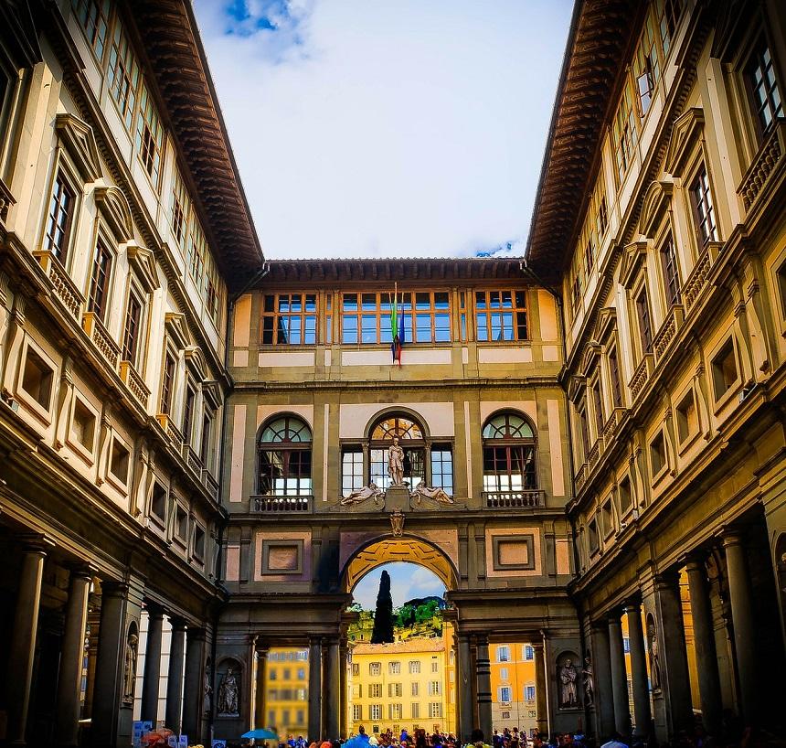 Uffizi in Florence in Italië