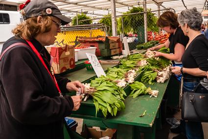 Groente op de farmersmarket in Byward market