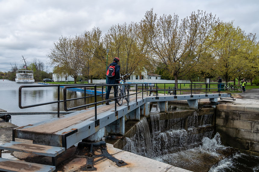 Sluizen in het Rideau kanaal