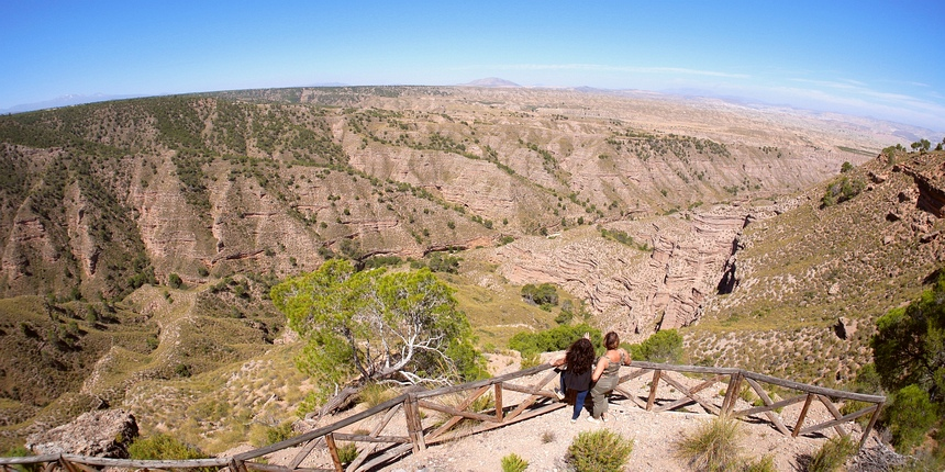 In Spanje geniet ik van de woestijn - die ook een bedreiging is.